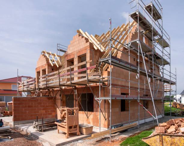 Baustelle eines neu gebauten Hauses – Foto