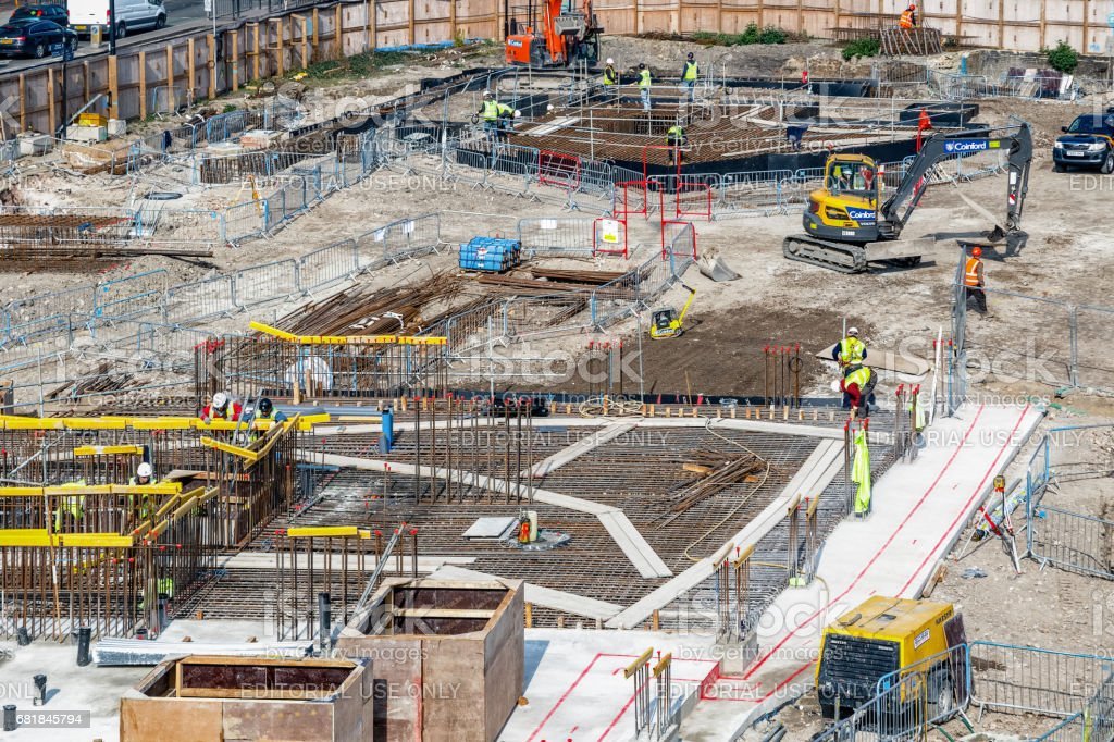 construction site of Blackwall Reach stock photo