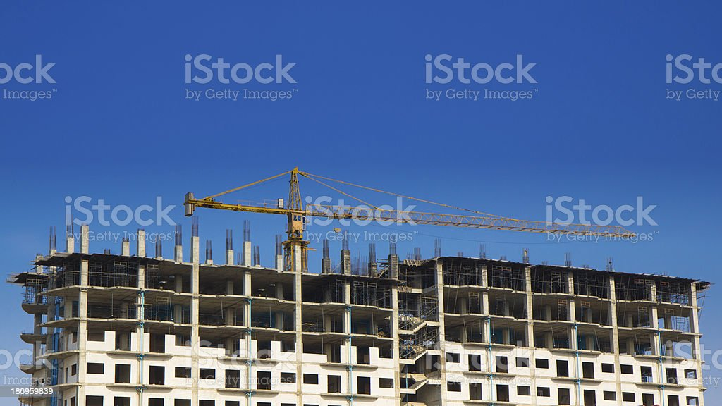 Construction site of modern building royalty-free stock photo