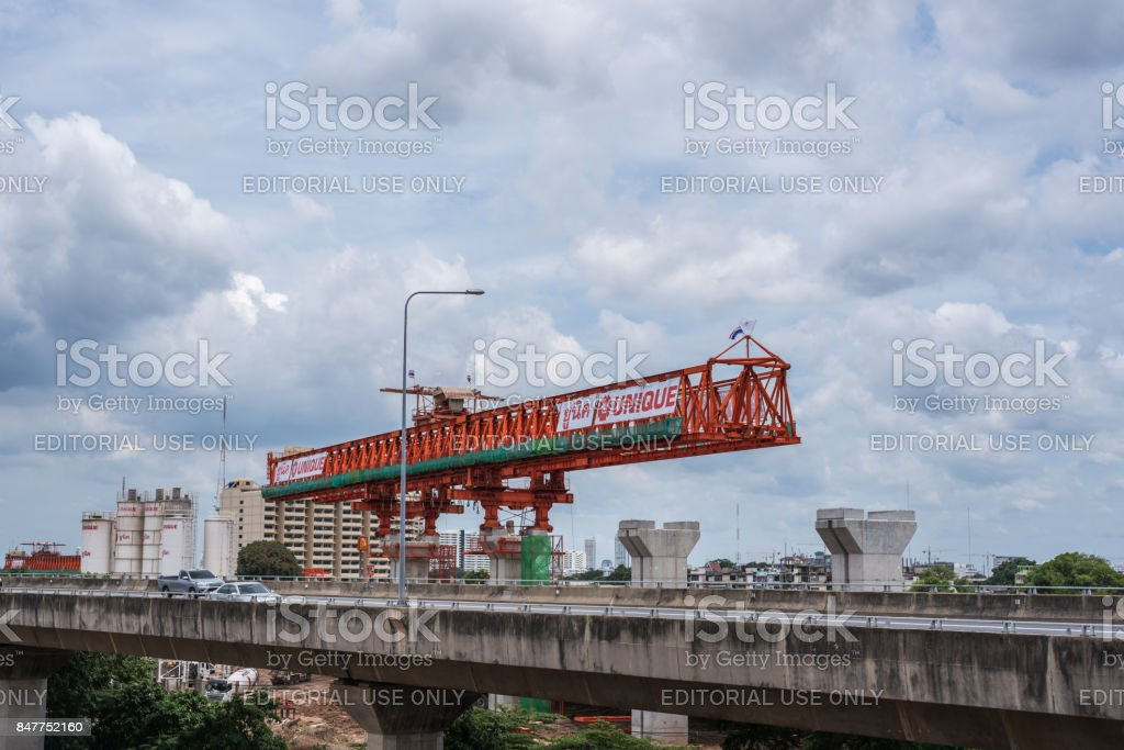 Construction site of sky train red line stock photo