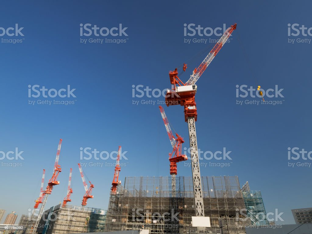 Construction Site Of Skyscrapers Stock Photo Download