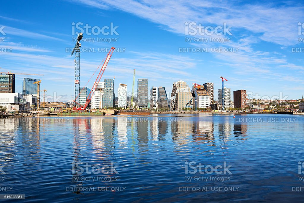 Construction site of the Munch Museum, Oslo Norway stock photo