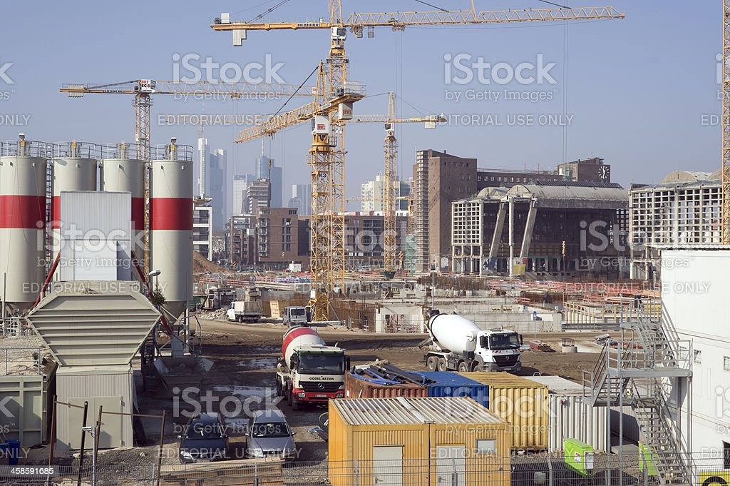 Construction site of the new ECB, EZB royalty-free stock photo