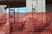 Construction site open building construction
