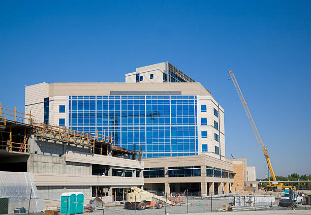construction site - hospital building stock photos and pictures