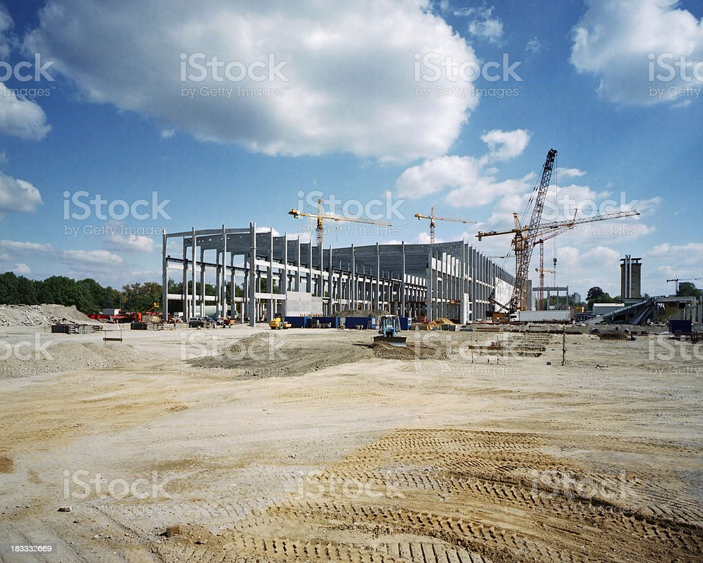 Construction Site Overview of a construction site Civil Engineering Stock Photo