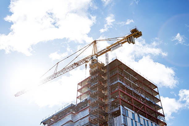 Construction site. bildbanksfoto
