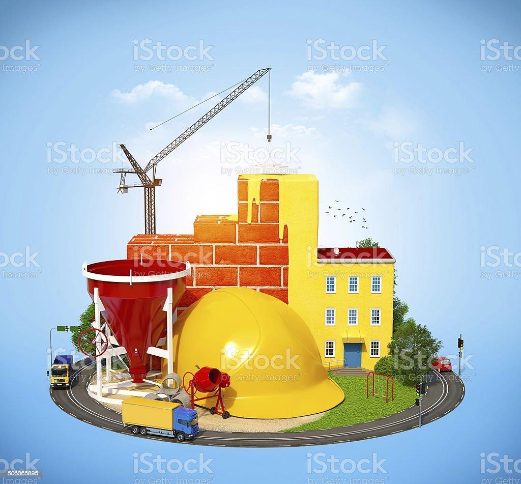 Construção Site - foto de acervo
