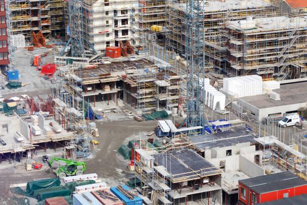 Byggarbetsplats bildbanksfoto