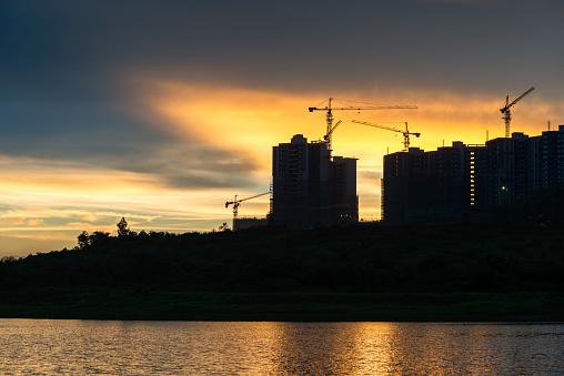 공사장 현장 개발에 대한 스톡 사진 및 기타 이미지