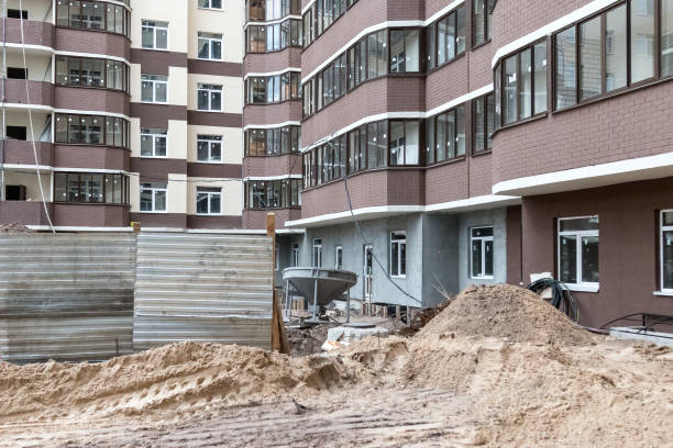 construction site production construction architecture stock photo