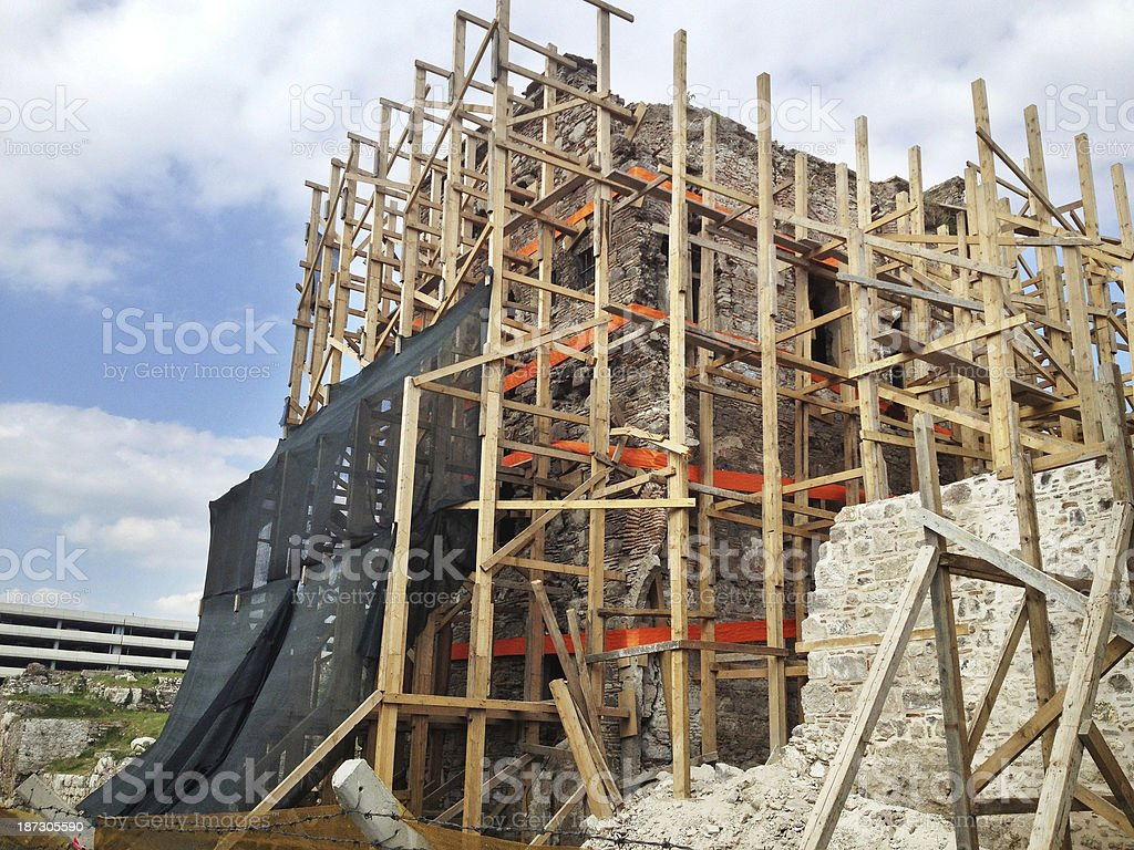 Construction site: rebuilding royalty-free stock photo