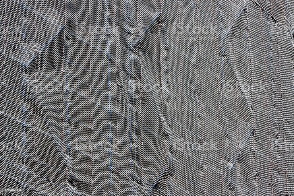 Construction site safety net, background with copy space royalty-free stock photo