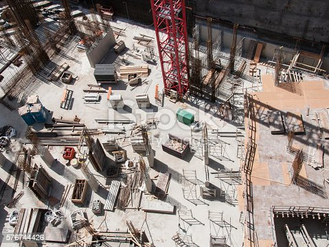 istock Construction site seen from above 576744426