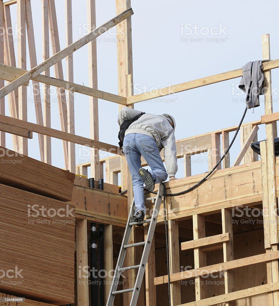 Construction site super climbing ladder royalty-free stock photo