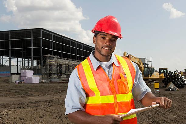 Construction Site Supervisor stock photo