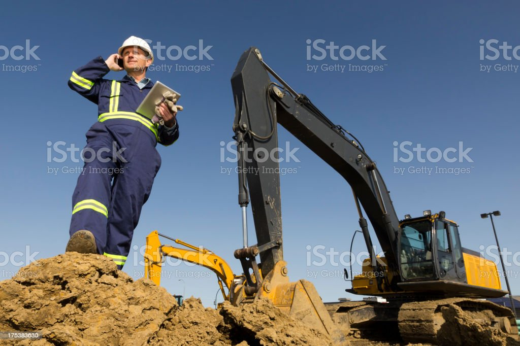Construction Site Technology royalty-free stock photo