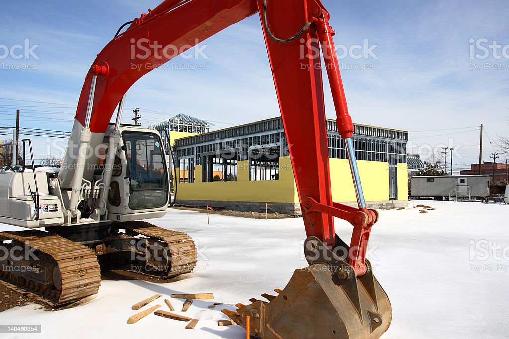 Construction Site Tractor royalty-free stock photo