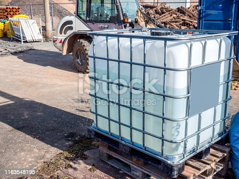 construction site water container