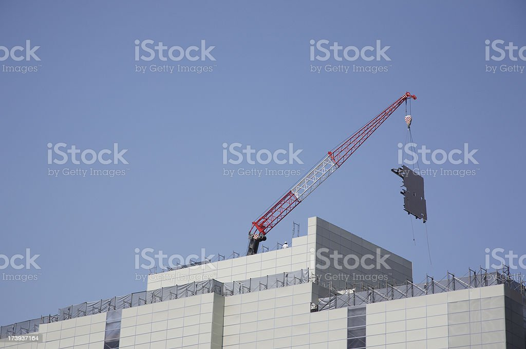Construction site with crane. stock photo