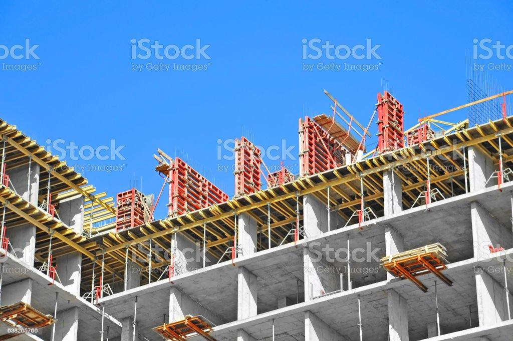 Construction site work stock photo