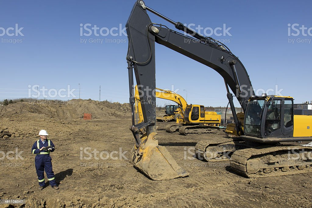 Construction Site Worker royalty-free stock photo