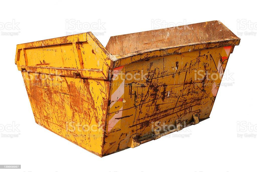 Construction Skip royalty-free stock photo