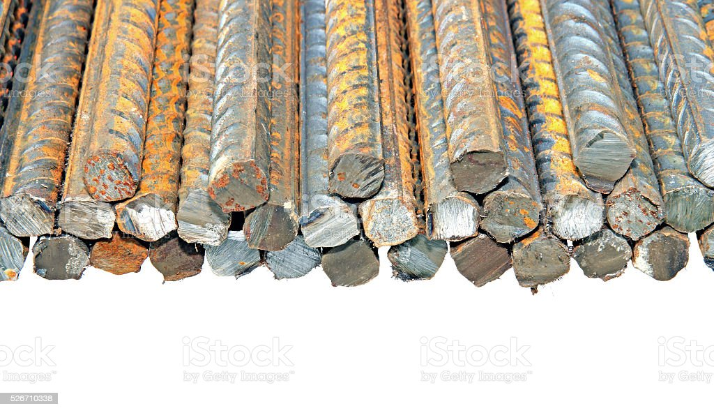 Construction steel reinforcement isolated stock photo