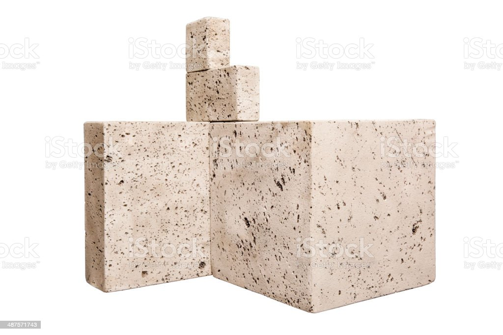 Construction stones stock photo