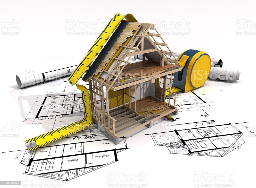 Construction structure stock photo