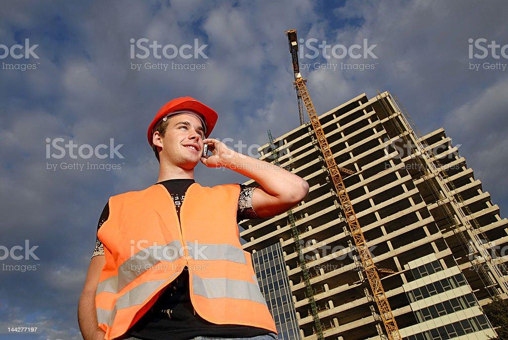 Construction supervisor royalty-free stock photo