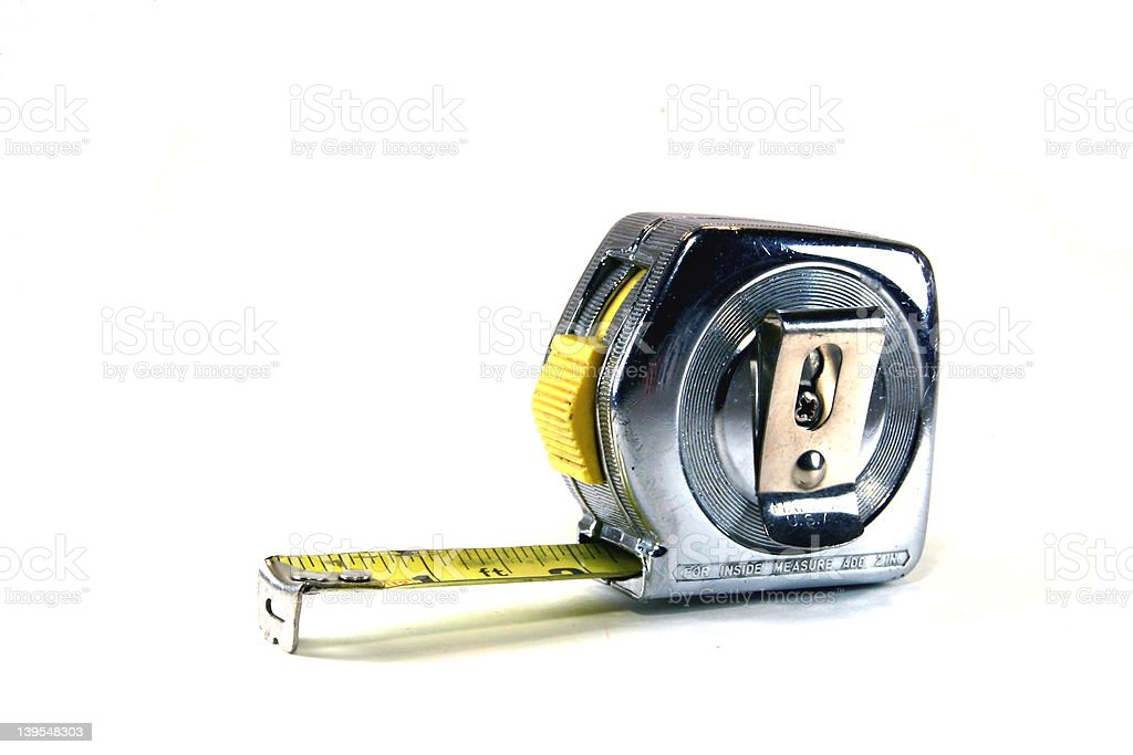Construction: Tape Measure royalty-free stock photo