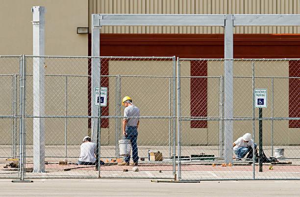 Construction Team Work stock photo