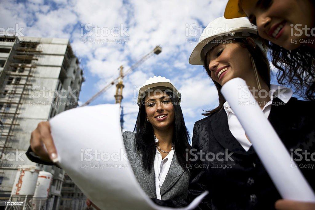 Construction teamwork royalty-free stock photo