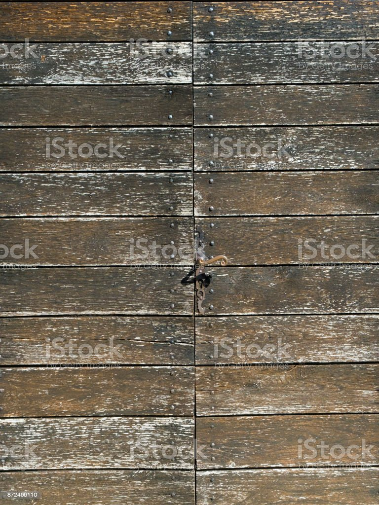 Construction timber deteriorating due to breakdown of treatment coating stock photo
