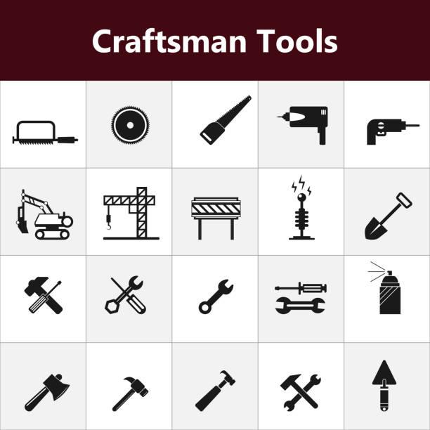 Bau Werkzeuge Symbole, Vektor-illustration – Foto