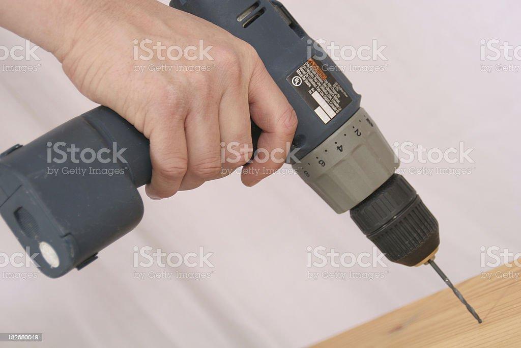 Construction Tools:  Power Drill royalty-free stock photo