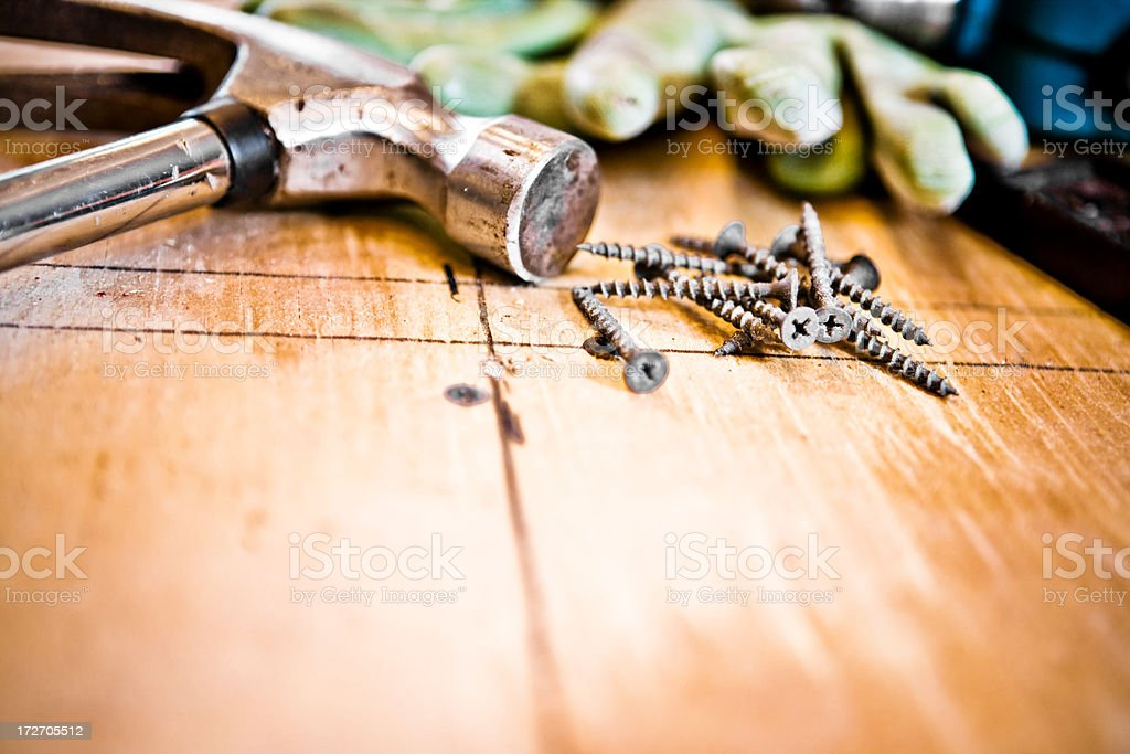 construction tools with copy space stock photo