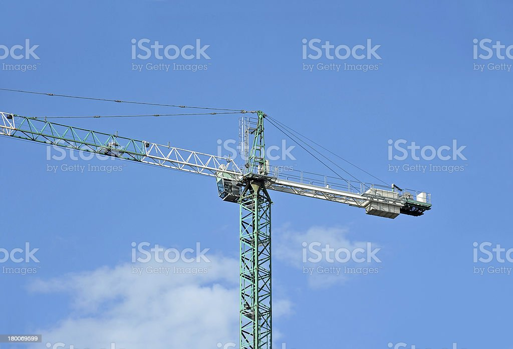 Construction tower crane royalty-free stock photo