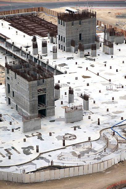 konstruktion tower foundation - pictafolio stock-fotos und bilder