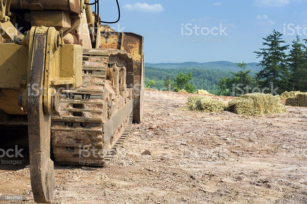 construction tractor stock photo