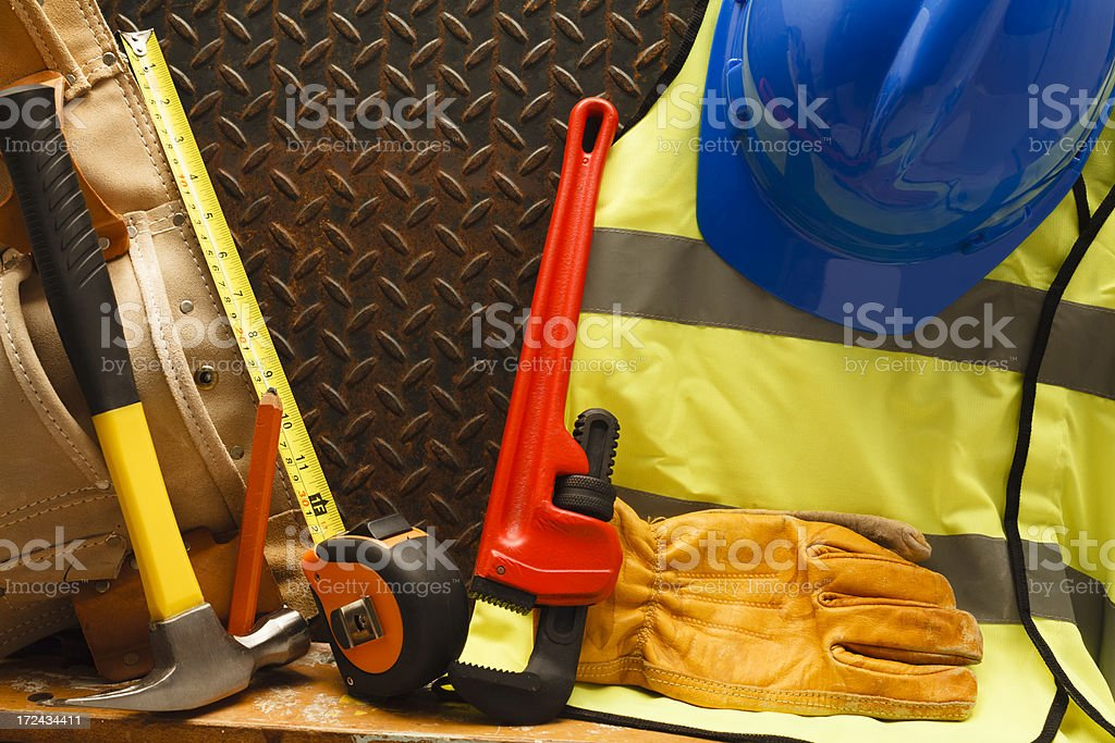 Construction Trades Safety royalty-free stock photo