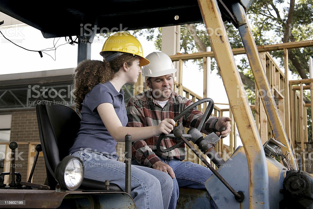 Construction Training stock photo