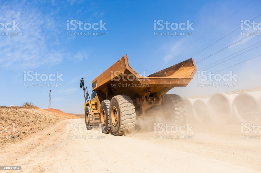 Construction Truck New Road Earthworks royalty-free 스톡 사진