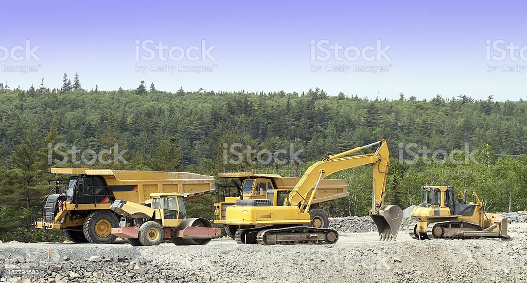 Construction Vehicles royalty-free stock photo
