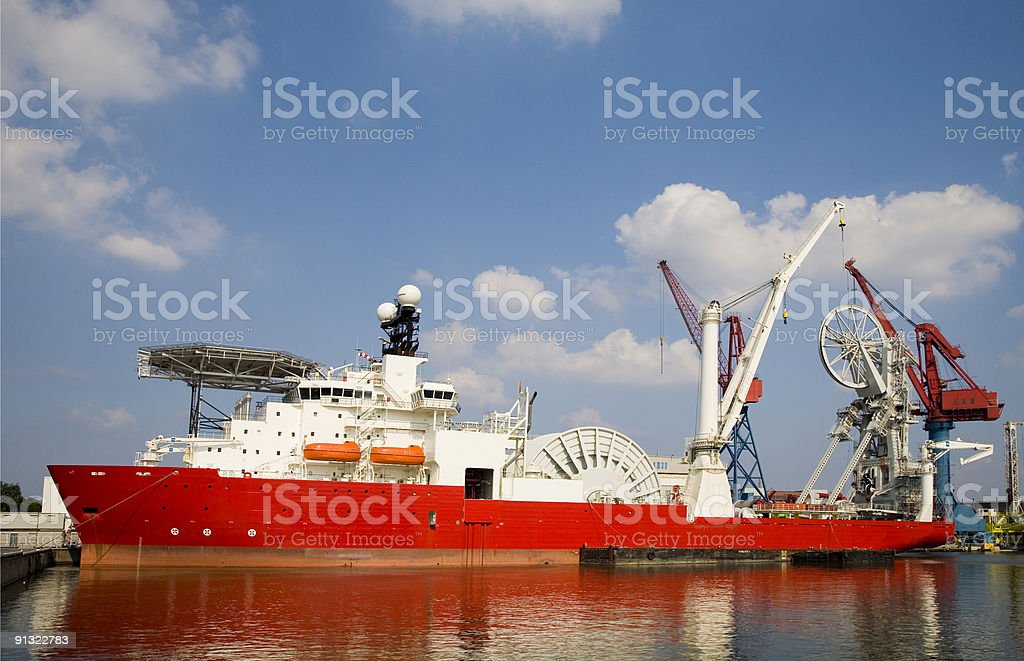 Construction vessel 1 royalty-free stock photo
