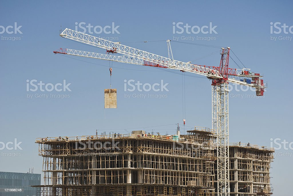 Construction With Crane royalty-free stock photo