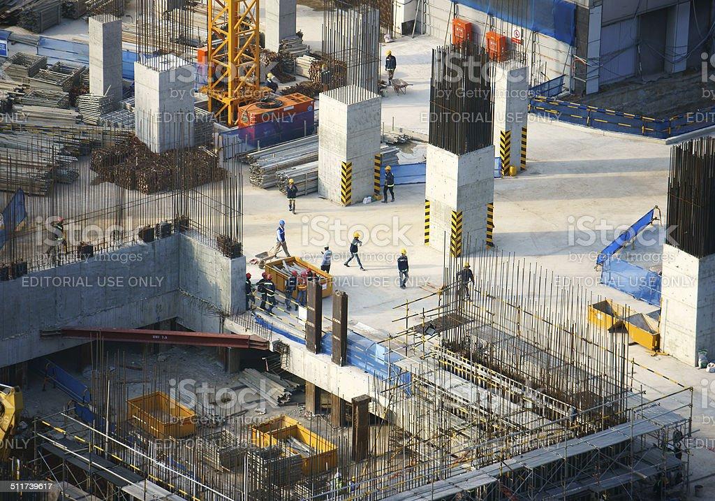 construction work, Asia city stock photo