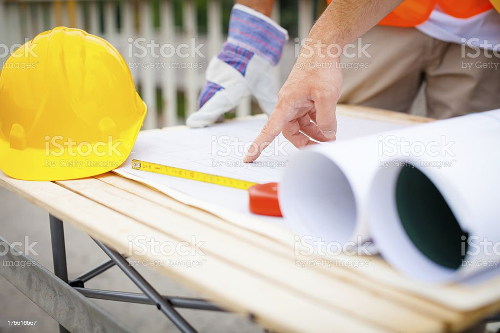 Construction work bench royalty-free stock photo