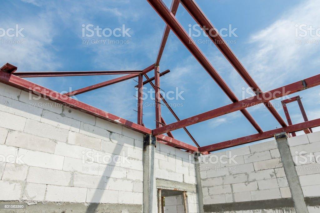 Construction Work Steel Roof Stock Photo Download Image Now Istock